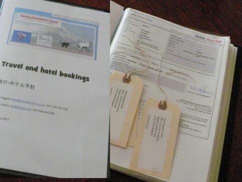 Travel booking folder