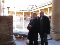 Dee and Mike taking in the Baths