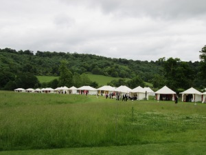 Field of feasting tents