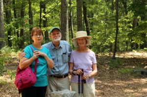 Joe, Pat and Dee Walden Pond CU