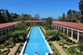 Getty Villa empty pool