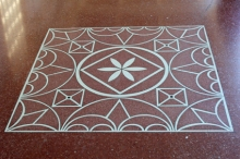 Getty Villa floor